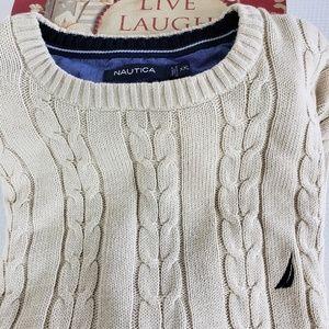 Nautica 2xl Cable Mens Tan Sweater